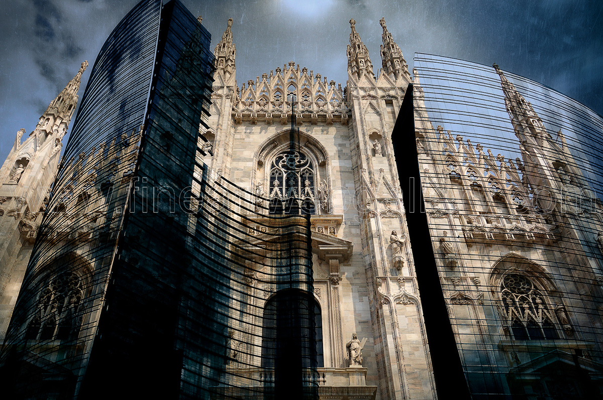 FineArtWebGallery - Donato Chirulli - Old and New Milan